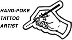 Hand poke tattoo artist